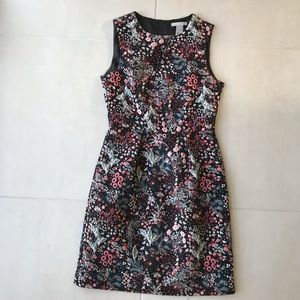 H&M Floral Print Cotton Blend Sheath Dress D681
